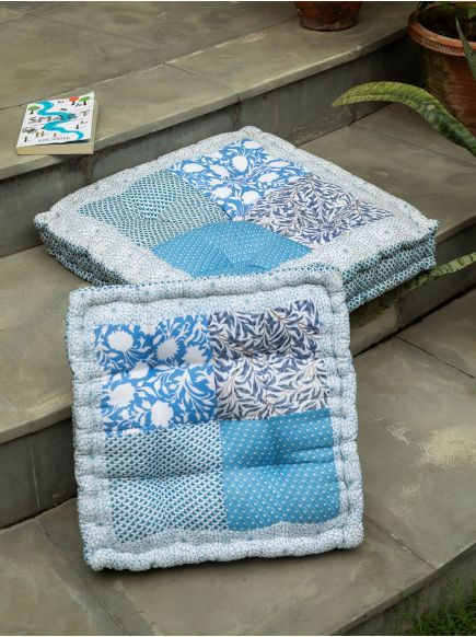 Patchwork Floor Cushion : Ocean