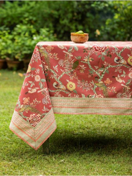 Table Cloth : Bird Brique