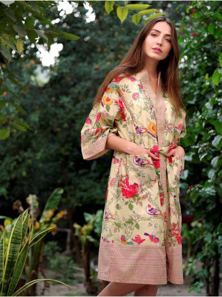 Kimono : Bird Lime