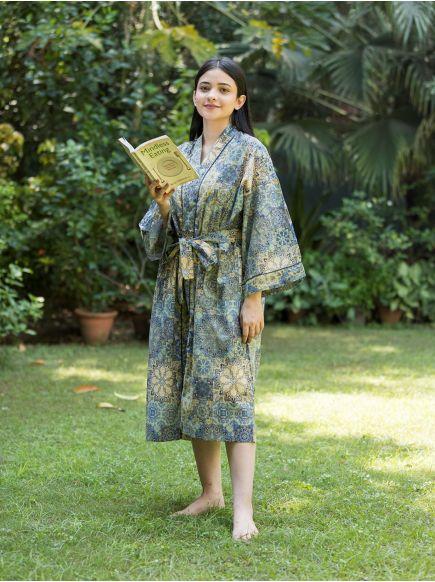 Kimono : Tangiers Blue