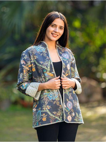 Easy Fit Reversible Jacket : Bird Graphite