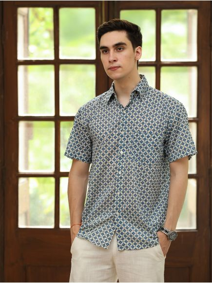 Xavier H/S Shirt : Ghazni Blue