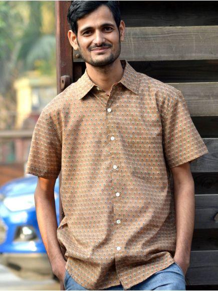 Xavier H/S Shirt : Kamal Booti Brown