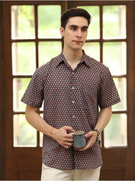 Xavier H/S Shirt : Kamal Booti Navy