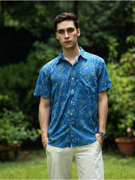 Xavier H/S Shirt : Mumtaz Navy