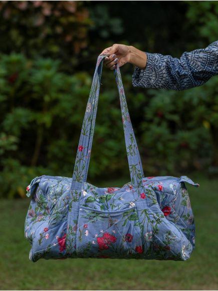 Kate Duffle Bag : Garden Azure
