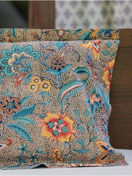 Pillow Cover Reversible : Kerala Black