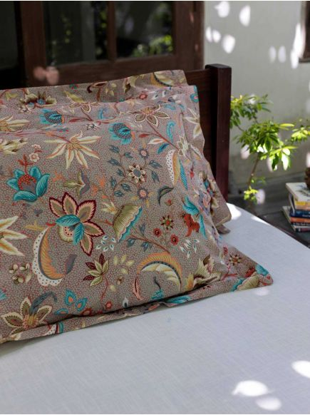 Pillow Cover Reversible : Kerala Brique