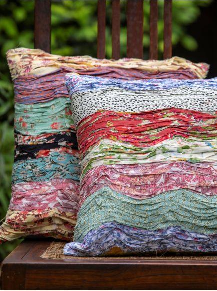 Green Cushion Cover : Waves
