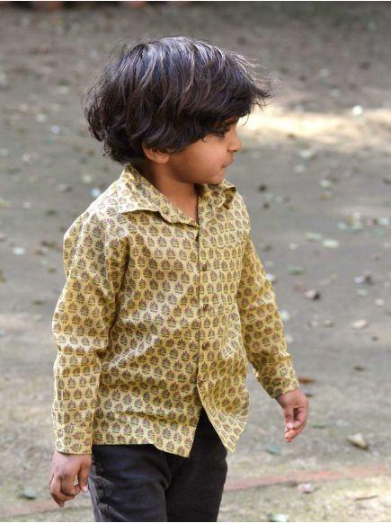 Angad Shirt F/S : Zanskar Gold