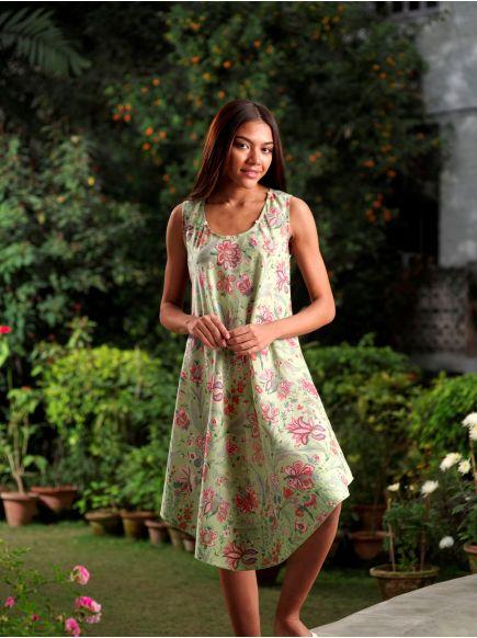 Ann Dress : Hawaii Sage
