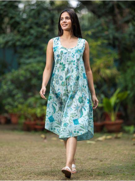 Ann Dress : Kerala Aqua