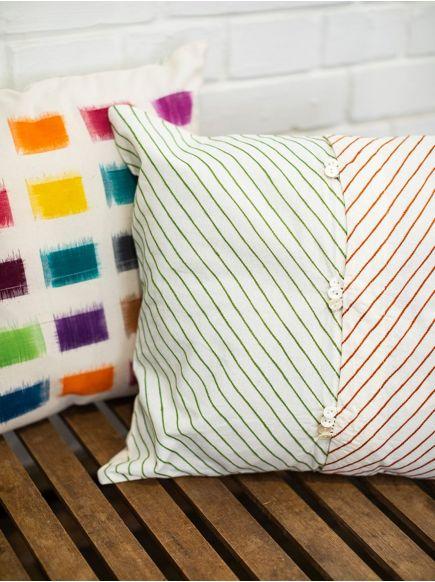 Ikat Woven Cushion Cover : Ikat Multi