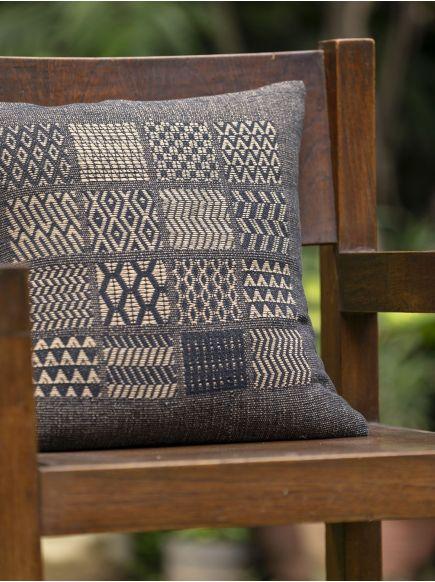 Brocade Cushion Cover : Black