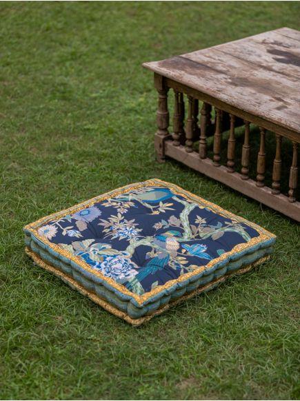 Floor Cushion : Bird Graphite