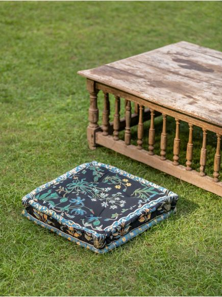 Floor Cushion : Garden Black