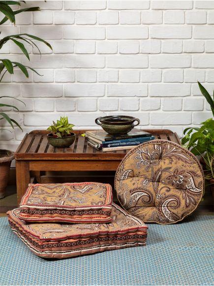 Floor Cushion : Kashmir Bronze