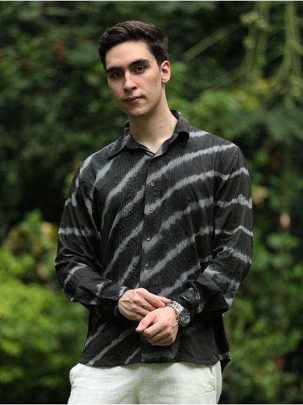 Xavier F/S Shirt With Pintuck : Tie Dye