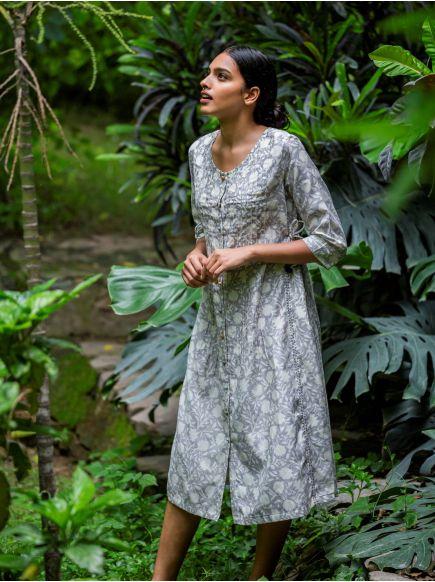Bengal Dress : Sundari Grey