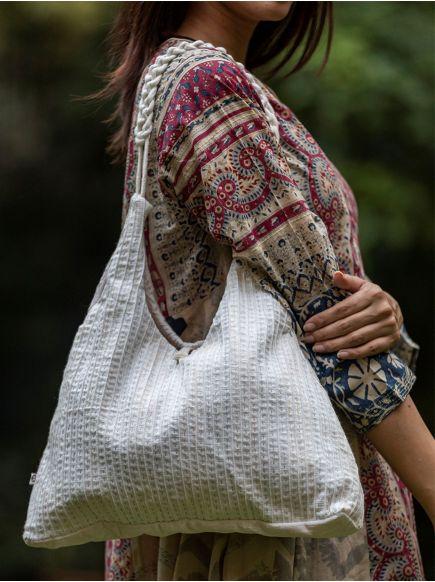 Braid Sling Bag : Natural