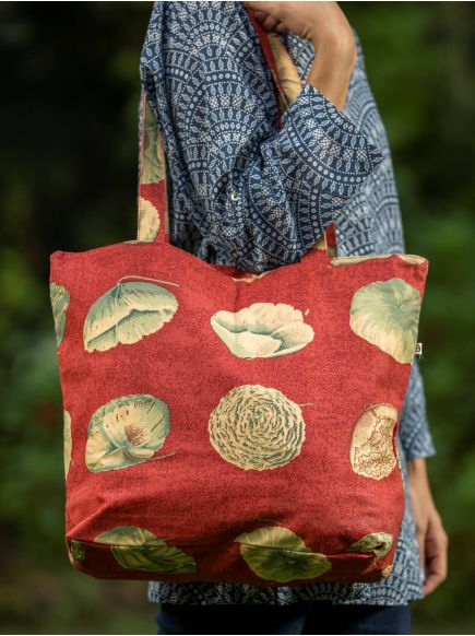 Canvas Tote : Nishi Red