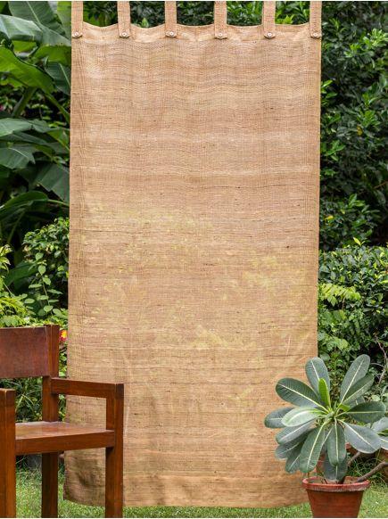 Ghicha Silk Curtain : Brown