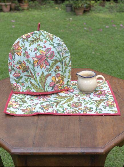 Tea Cozy Set of 2 : Hawaii Sea Green