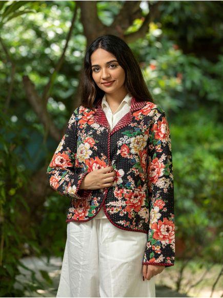 Lapel Reversible Jacket : Magnolia Black
