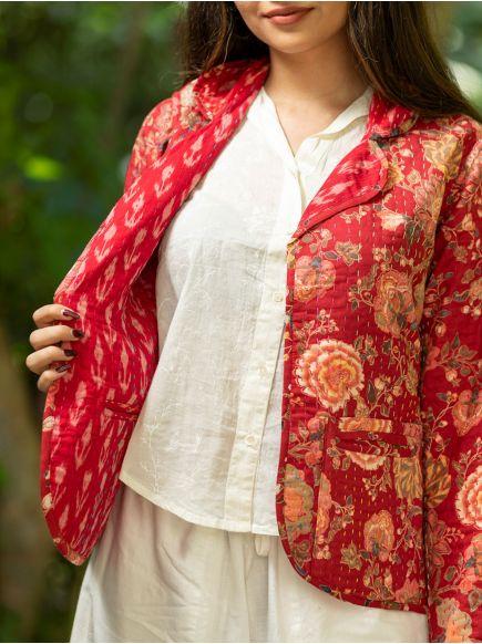 Lapel Reversible Jacket : Malabar Red
