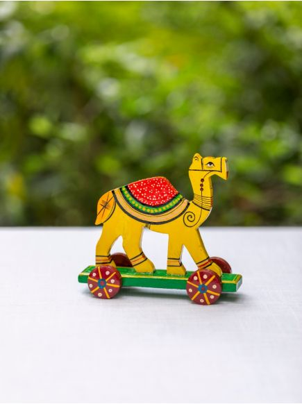 Pull Along Hand Painted Animal : Camel Assorted