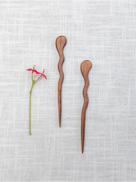 Hair Stick Single Pin : Wooden
