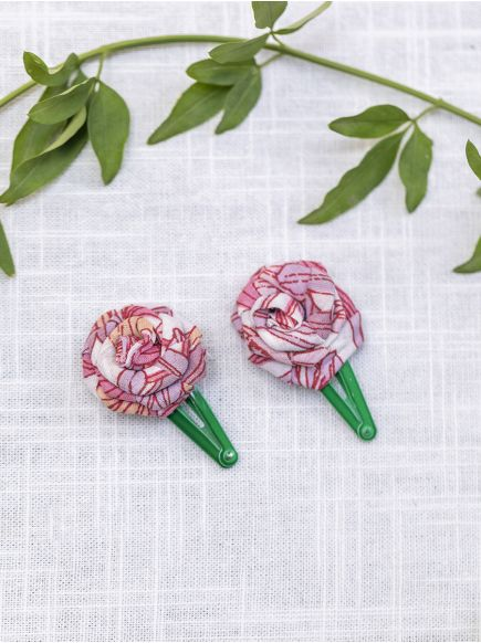 Hair Clip Set of 2 : Roses Assorted