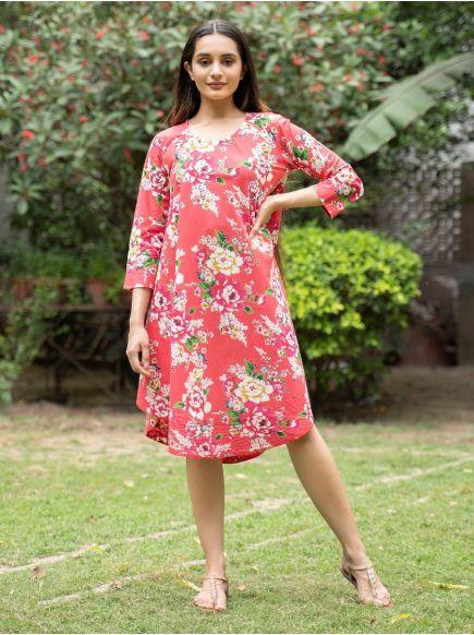 Ann Dress  : Magnolia Red