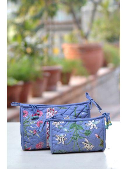 Cosmetic Case : Garden Azure
