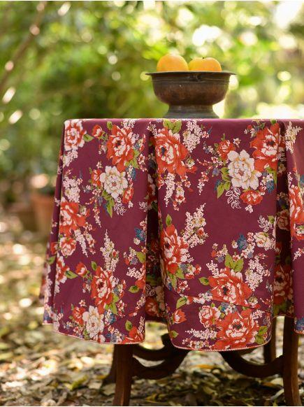 Table Cloth Round : Magnolia Wine