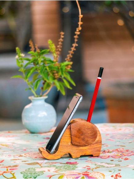 Mobile Stand Elephant : Wooden