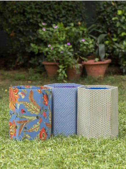 Fabric Dustbin : Assorted