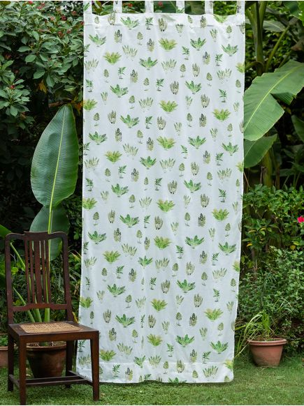 Voile Curtain : Fern Natural