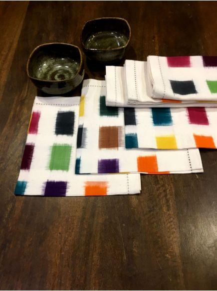 Ikat Woven Napkin Set of 6 : Multi
