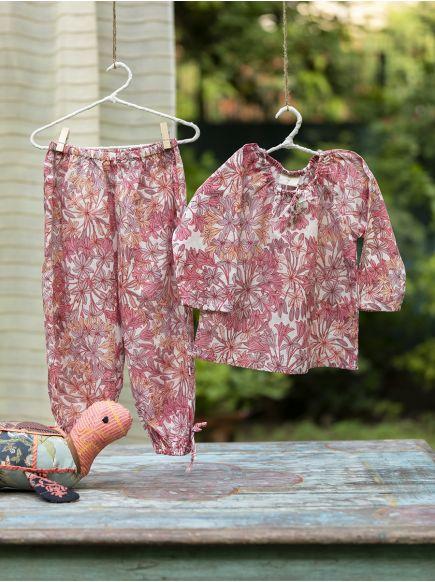 Leela PJ Set : Allium Pink