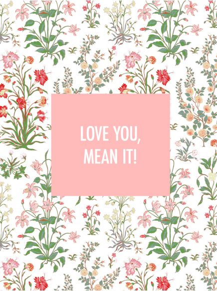 GIFT CARD : LOVE YOU MEAN IT