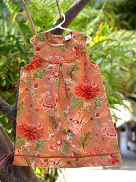 Mira Dress : Redwood Roses