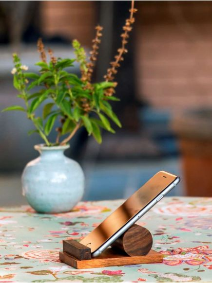 Mobile Stand Round : Wooden
