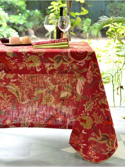 Textured Table Cloth : Sequoia Berry