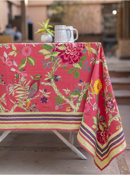 Table Cloth : Bird Coral