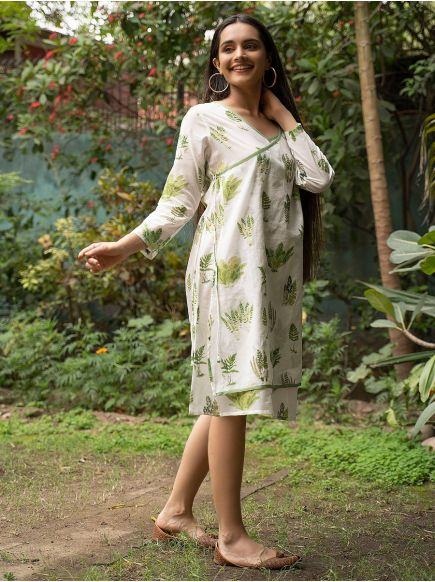 Wrap Dress : Fern Natural